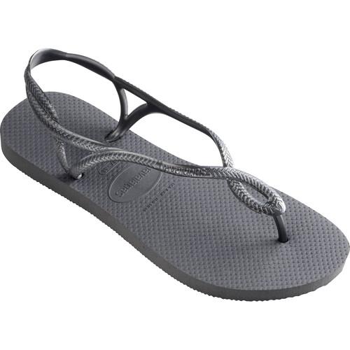 havaianas Luna - Sandales Femme - gris sur campz.fr ! Réduction Offres Magasin D'usine 0GOxen